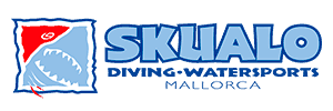 skualo diving watersports mallorca logo